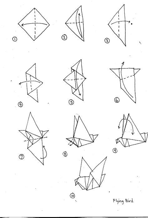 origami bird template origami diagrams
