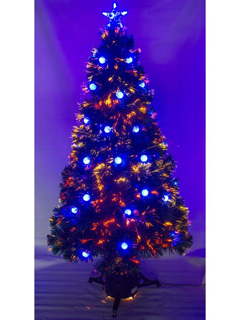 6 foot pre lit white tree 5ft 6ft pre lit fibre optic tree with led