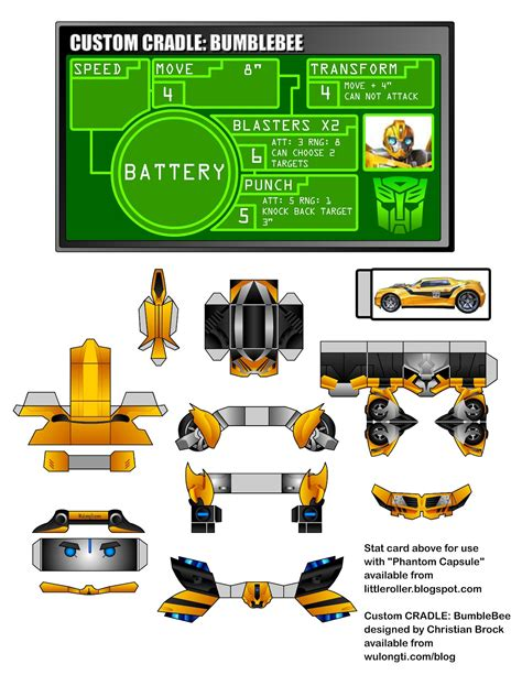 paper crafting websites bumblebee transformers