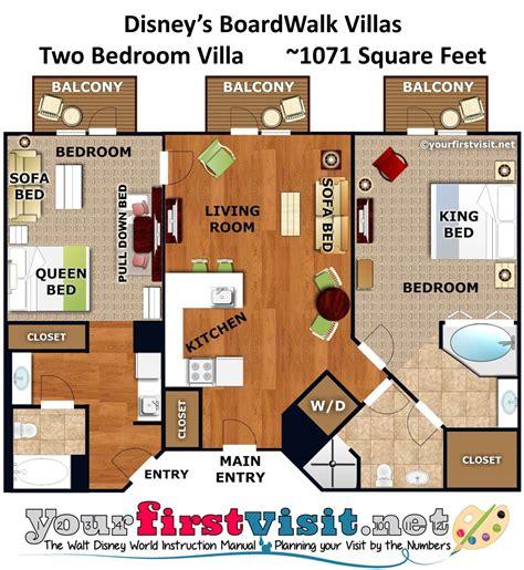 2 bedroom villa floor plans review disney s boardwalk villas yourfirstvisit net