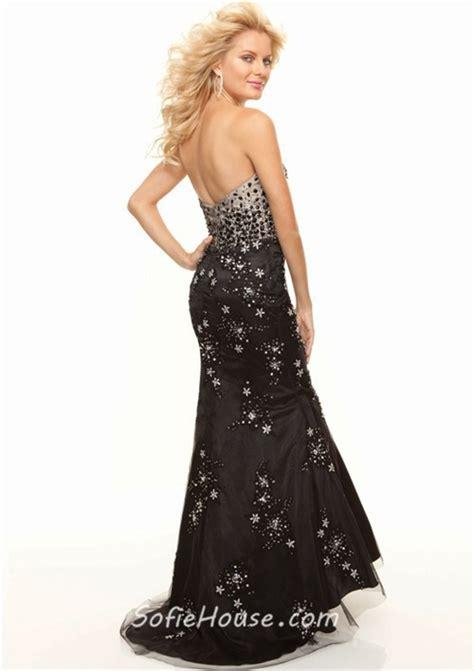 beaded mermaid prom dress trumpet mermaid sweetheart floor length black beaded prom