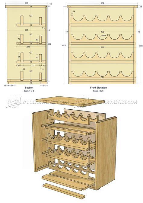 wine cabinet woodworking plans wine rack plans woodarchivist
