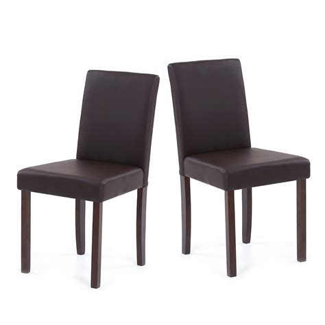 black faux leather dining room chairs ikayaa set of 2 modern faux leather home room dining
