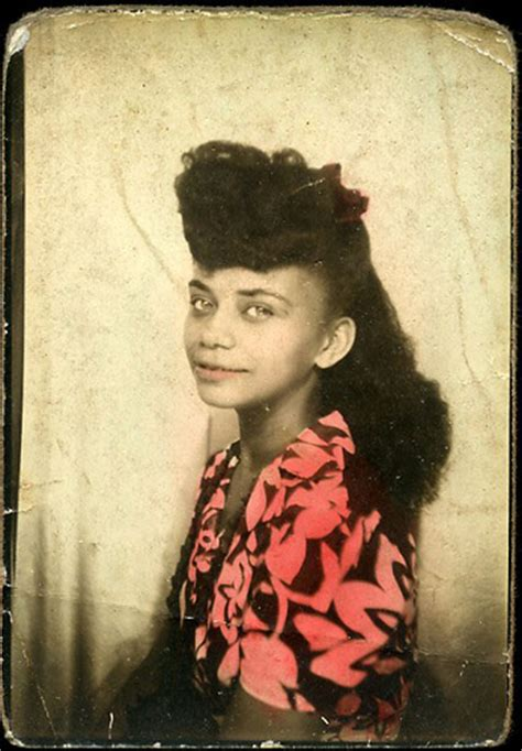 hairstyle facts from the 1940 s young african american woman vintage african american