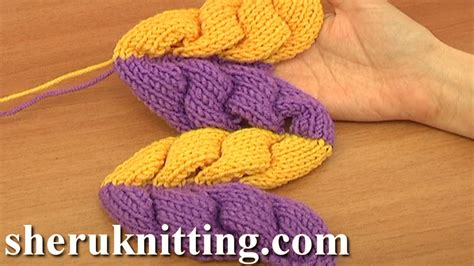 how to pfb in knitting 3d knit wheat ear stitch pattern tutorial 9 part 2 of 2 3d