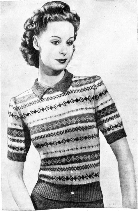 vintage knits vintage fair isle knitting patterns crochet and knit