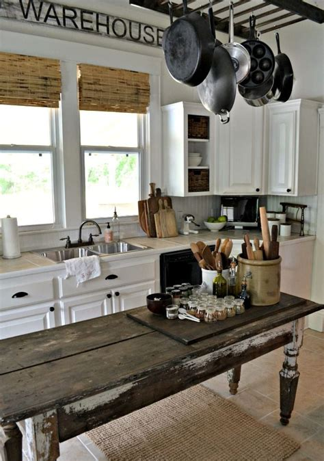 farm table kitchen island 31 cozy and chic farmhouse kitchen d 233 cor ideas digsdigs