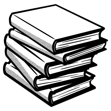 black and white pictures of books clipart books lineart