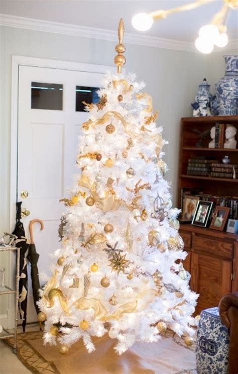 gold and white tree white tree with gold decorations designcorner