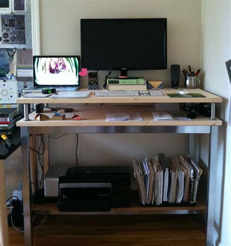stand up desk ikea hack 10 ikea standing desk hacks with ergonomic appeal