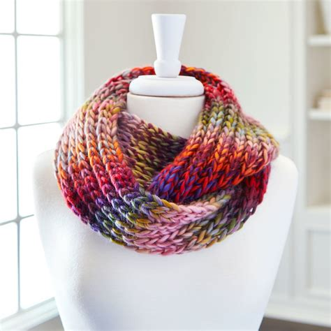 loops and threads knit loops threads 174 facets infinity knit scarf