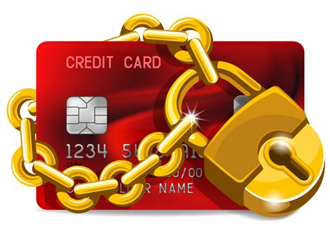 gold lock credit card design vector free vector graphic