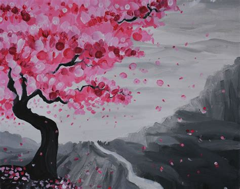 acrylic paint japanese the gallery for gt japanese cherry blossom painting acrylic