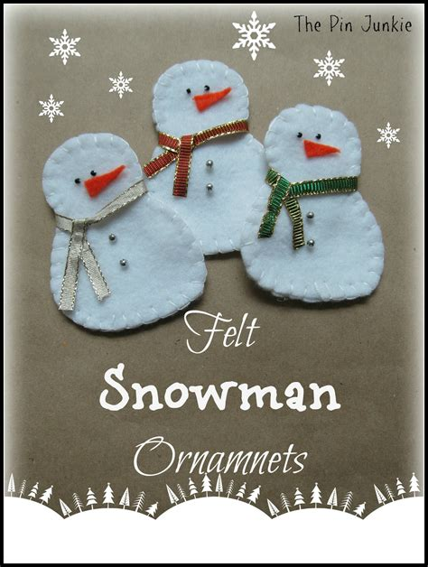 free ornament craft patterns snowman felt ornaments with pattern diy and crafts