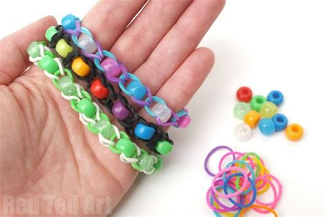 pony bead bracelet ideas pony bead loom band patterns finger looming ted