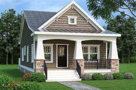 cottage style homes 2 bed bungalow house plan with vaulted family room 75565gb architectural designs house plans