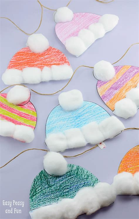 simple crafts winter hats craft for classroom craft