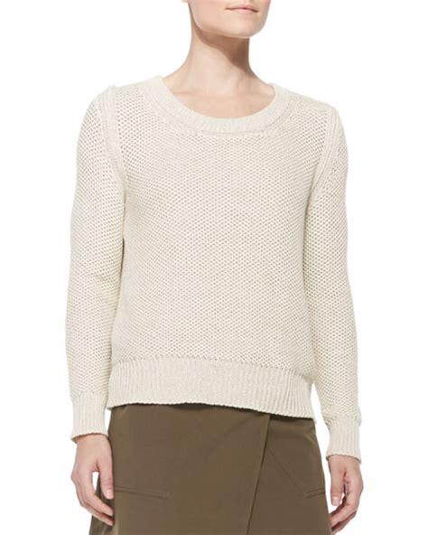 shaker knit sweater belstaff shaker knit cotton sweater open white