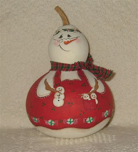 gourd crafts for 17 best images about painted gourds snowman on