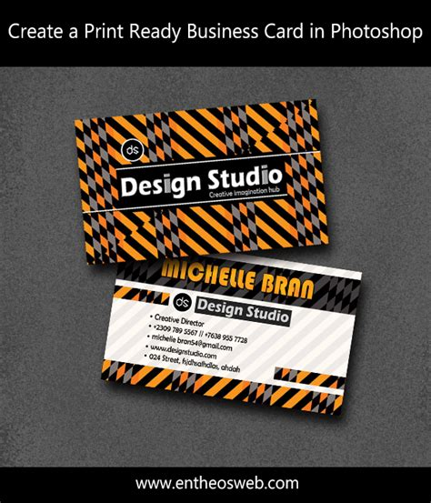 Learn How To Create A Print Ready Business Card In