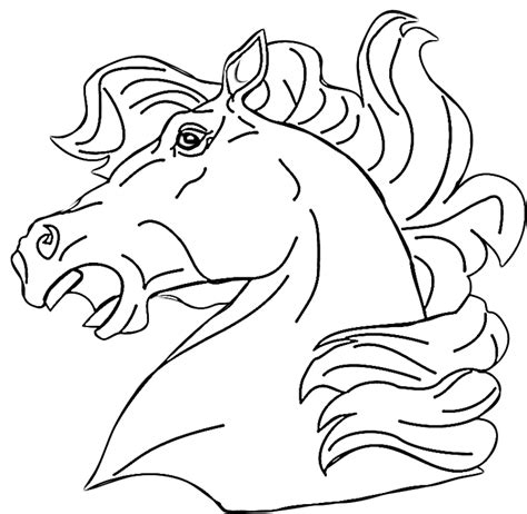 horses head coloring pages