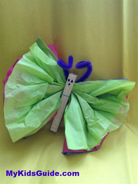 butterfly tissue paper craft butterfly munchkins and