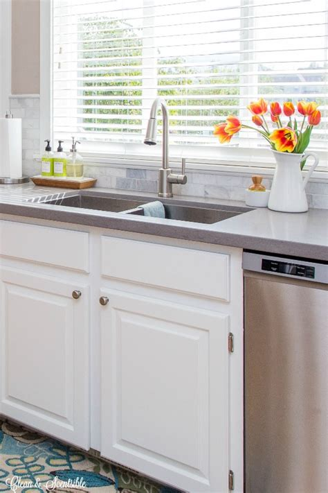 organizing the kitchen sink clean and scentsible