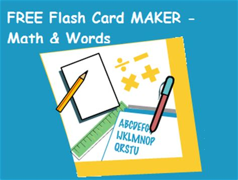 make flash cards free free math word flash card maker surviving a s