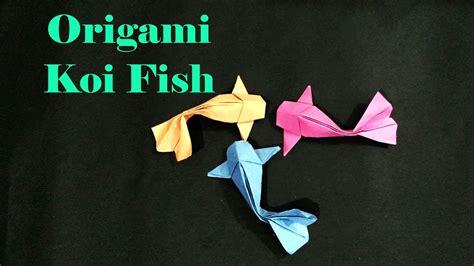how to make origami koi fish how to make a 3d origami koi fish versi on the spot