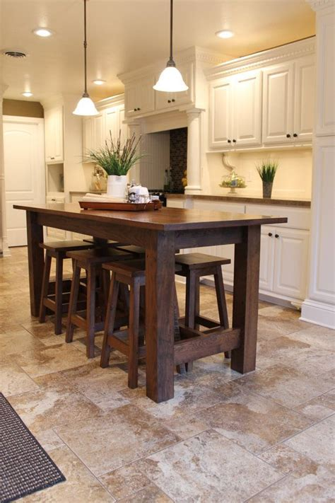 kitchen island farm table 25 best ideas about island table on kitchen booth seating kitchen island table and
