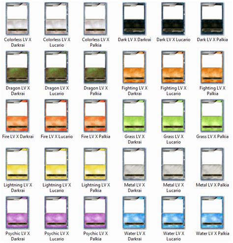 make your own card level ex bw all lv x card blanks by the ketchi on deviantart