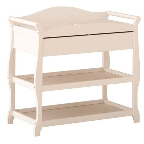 changing table drawer sleigh changing table with drawer in white 00524 581