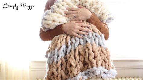 simply maggie arm knitting arm knit blanket time lapse simply maggie