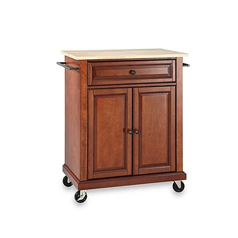 kitchen island rolling cart crosley wood top portable rolling kitchen cart island bed bath beyond
