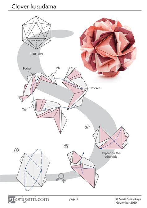 origami modular diagrams clover kusudama by sinayskaya diagram go origami