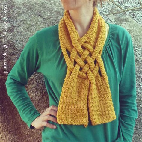 weave knit scarf pattern you to see fling basket weave scarf by