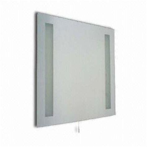 bathroom mirror built in light 230v pull cord bathroom mirror light with built in
