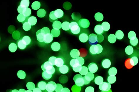 and green lights blurred lights green picture free photograph