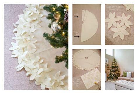 tree skirt pattern sew diy no sew flower tree skirt