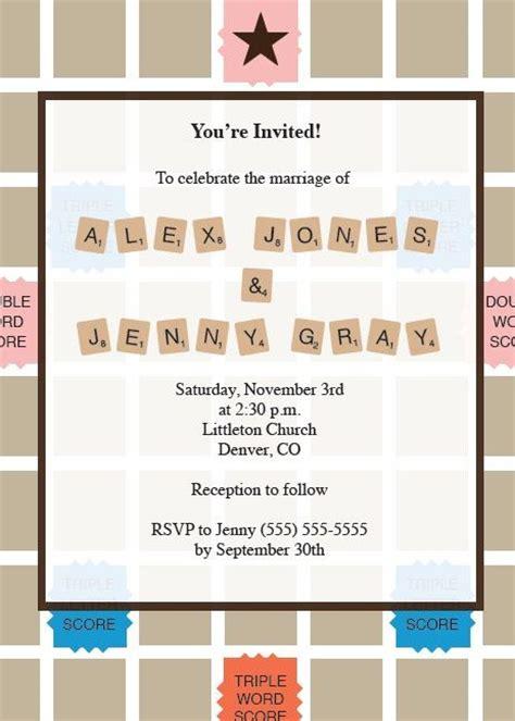 scrabble invitations scrabble invite print