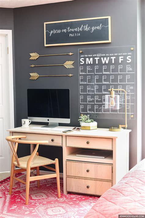 home office wall decor how to make a stylish diy acrylic calendar