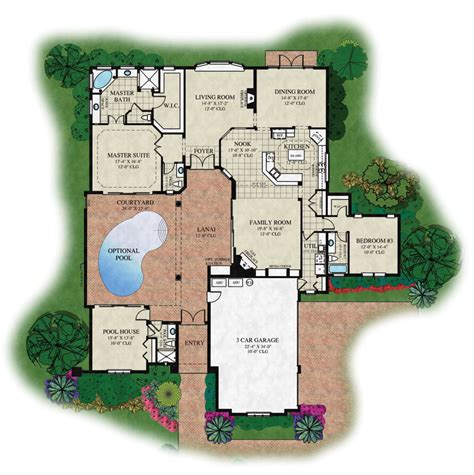 courtyard floor plans courtyard floorplans 171 unique house plans