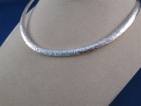 how to make a collar necklace with hammered sterling silver artie yellowhorse collar necklace
