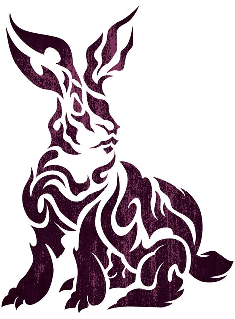 tribal rabbit by takihisa on deviantart