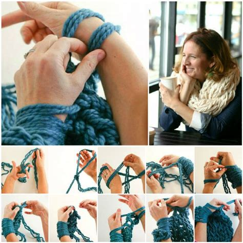 arm knitting scarf step by step the best arm knitting free pattern collection patterns