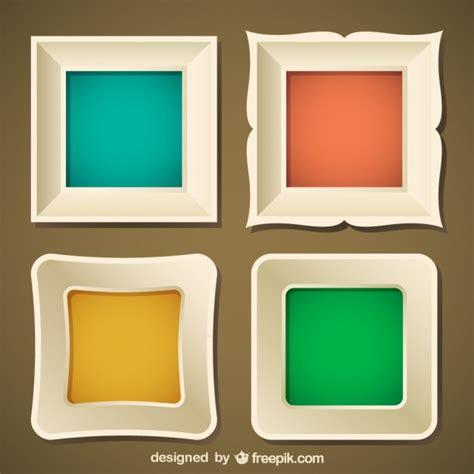 Modern Design Elements stylish frame set vector free download