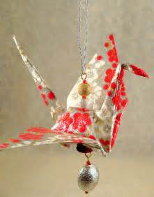 japanese origami cranes origami crane ornament paper jewelry