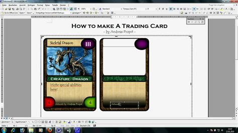 make trading cards free card tutorial large avi