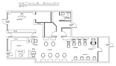 floor plan for hair salon sle floorplan salons