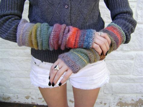 knitted arm warmers arm warmers by zachariae knitting pattern